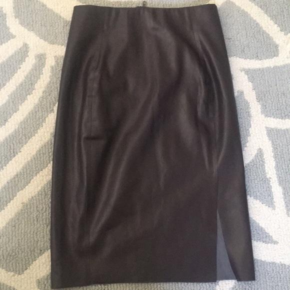 d4dd6f8b8b LOFT Skirts | Nwt Chocolate Brown Faux Leather Pencil Skirt | Poshmark